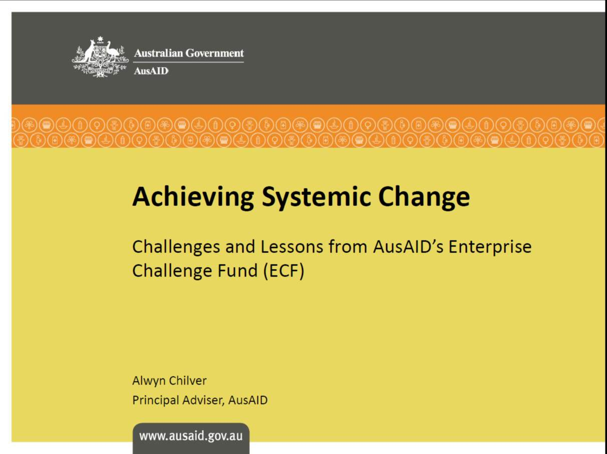 AusAID Systemic Change training