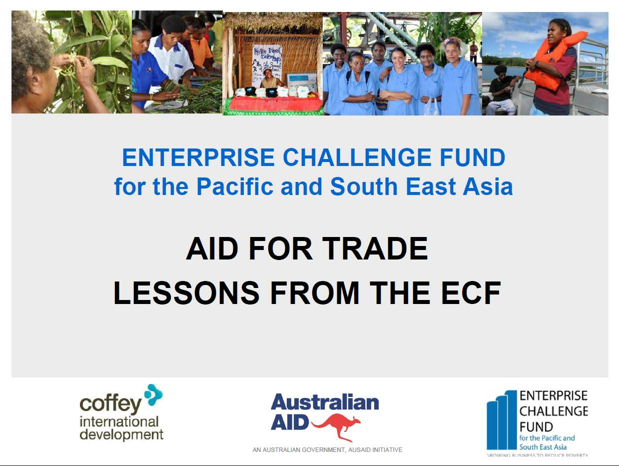 ECF - presentation Aid for Trade Lessons in Pacific