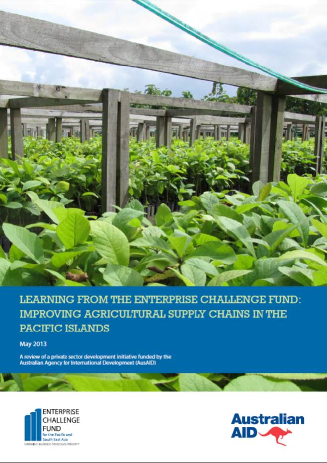 Improving Agricultural Supply Chains in the Pacific Islands